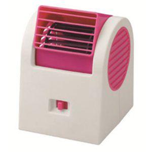 グリーンハウス GREENHOUSE USB扇風機 ボックス型 (ピンク) GH-USB-FANSTP - 拡大画像