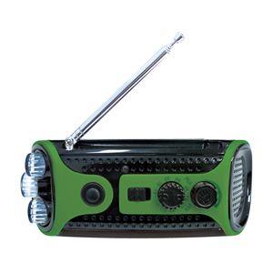 レッドスパイス クランキングラジオ&ライト /グリーン CB-G411GR - 拡大画像
