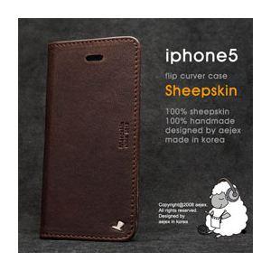 AEJEX iPhone5用ケース FLIPタイプ ダークブラウン AS-AJIP5F-DB h01