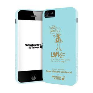 princeton iPhone 5用プレミアムジェルシェルケース (Dame Vivienne Westwood/ブルー) WAS-IP5-GVW01 - 拡大画像