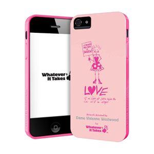 princeton iPhone 5用プレミアムジェルシェルケース (Dame Vivienne Westwood/ピーチ) WAS-IP5-GVW02 - 拡大画像