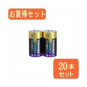 TOSHIBA(東芝)単1アルカリ電池 2本パック LR20AG 2KPx10パック LR20AG 2KPX10