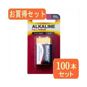Mustan Mustan 9V型アルカリ乾電池 006P 6LR61x100パック 6LR61X100