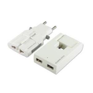 デバイスネット USB対応マルチ電源変換アダプター ゴーコンW2+スイングUSBタップ ホワイト RW99WH-B - 拡大画像