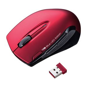 サンワサプライ ワイヤレスブルーLEDマウス MA-WBL26R