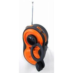 YAZAWA 手回し発電・USB充電式 電池が不要!AM/FMシャワーラジオ BL108RMDOR - 拡大画像