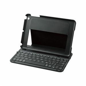 エレコム iPad mini専用ケース一体型ワイヤレスキーボード TK-FBP058ECBK - 拡大画像