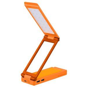 GREENHOUSE LEDスタンドライト付きモバイルバッテリ オレンジ GH-BTL6000-OR