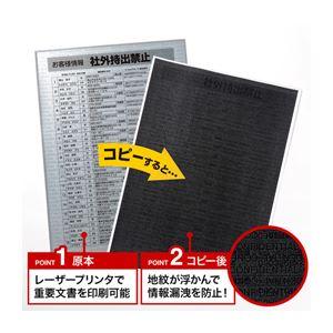 サンワサプライ コピー防止用紙(A4サイズ)20枚入り LBP-CBKL20 h01