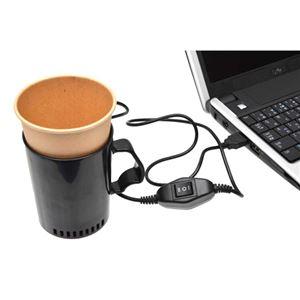 サンコー USB温冷カップホルダー USBCUPCW - 拡大画像
