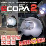 日本セラミック センサーライト「エコパ2」 メタリックブルー 8751341