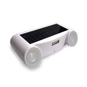 【訳あり・在庫処分】ランドポート ソーラー充電式アクティブスピーカー ホワイト SSW-111 - 拡大画像