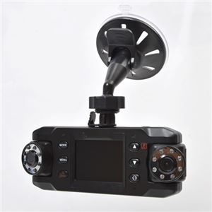 【車載用防犯カメラ】サンコー 前後赤外線LED付きデュアルレンズドライブレコーダーGPS X8DVRDLの詳細を見る