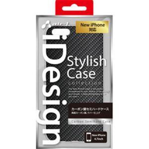 エアージェイ iPhone6(4.7inch) カーボン調PCケース AC-P47-H CB h01