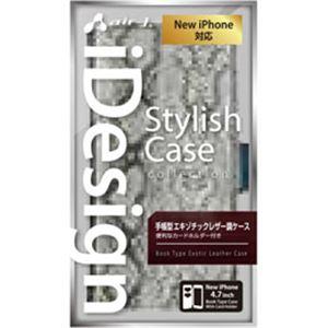 エアージェイ iPhone6(4.7inch) 手帳型アニマル柄PUケース AC-P47-SB SL h01