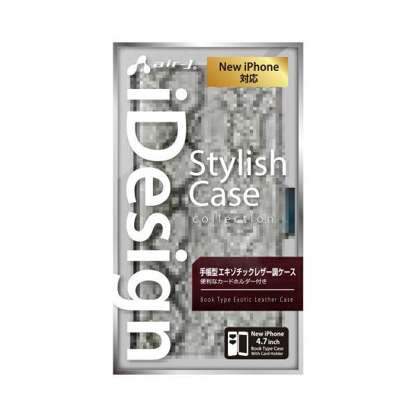 エアージェイ iPhone6(4.7inch) 手帳型アニマル柄PUケース AC-P47-SB SLf00