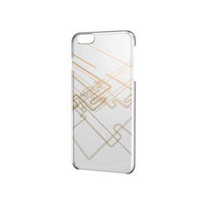 ELECOM(エレコム) iPhone 6 Plus用シェルカバー/ゴールド PM-A14LPVATG04 - 拡大画像