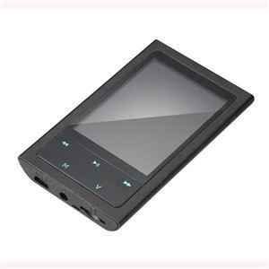 グリーンハウス 8GB内蔵メモリー搭載MP3プレーヤー 「KANARS」 ブラック GH-KANARS-8GK - 拡大画像