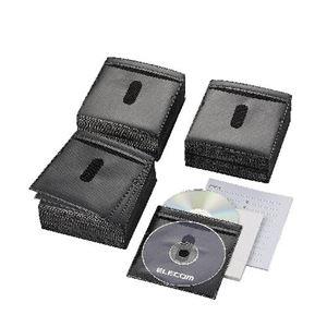 ELECOM(エレコム) DVD・CD不織布ケース(両面収納) CCD-NIW300BK