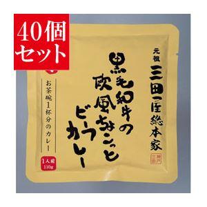 【40個セット】 三田屋総本家 黒毛和牛の欧風 ちょこっとビーフカレー - 拡大画像