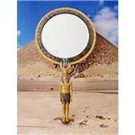 ワールドピクチャー カフラー手鏡 エジプト雑貨 W-71591-1980