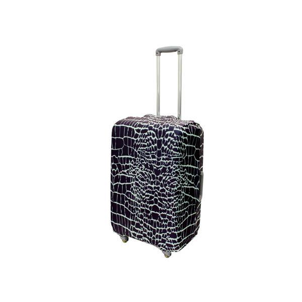 ミヨシ 撥水加工付スーツケースカバ- Mサイズ クロコダイル柄 MBZ-SCM2/CRf00