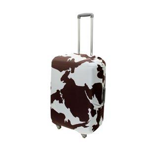 ミヨシ 撥水加工付スーツケースカバ- Lサイズ COW柄 MBZ-SCL2/CW h01