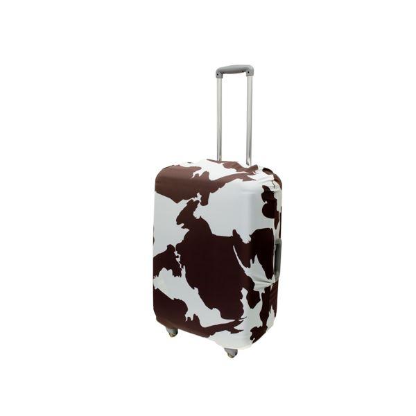 ミヨシ 撥水加工付スーツケースカバ- Lサイズ COW柄 MBZ-SCL2/CWf00