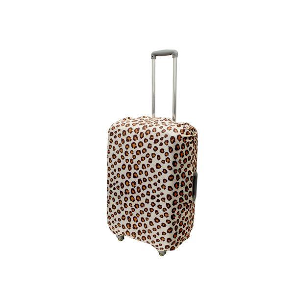 ミヨシ 撥水加工付スーツケースカバ- Lサイズ ヒョウ柄 MBZ-SCL2/LPf00