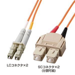 サンワサプライ 光ファイバケーブル1.5m HKB-LS5-01K
