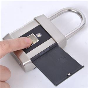 サンコー 指でロック!指紋認証南京錠 FGRLOK6S