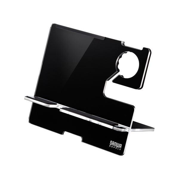 サンワサプライ AppleWatch・iPhone用充電スタンド(ブラック) PDA-STN12BKf00