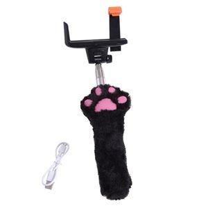 サンコー 無線式もふもふ肉球自撮り棒 ブラック CATSTK3B