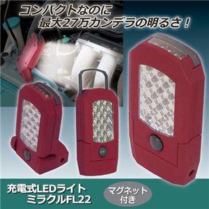 ジャステム 充電式LEDライト ミラクルFL22 810162