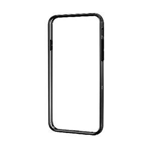 エレコム iPhone6s/6用ハイブリッドバンパー/クリア×ブラック PM-A15HVBBK