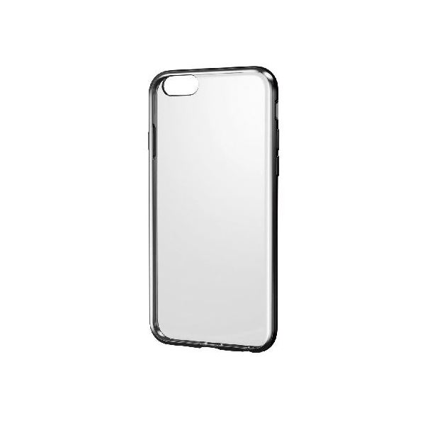 エレコム iPhone6s/6用ハイブリッドケース/クリア×ブラック PM-A15HVCBKf00