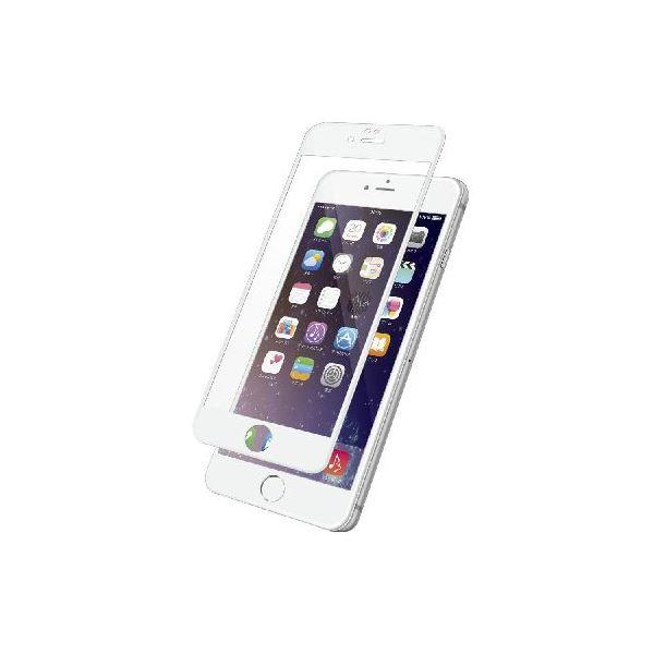 エレコム iPhone6s Plus/6 Plus用フィルム/3D/防指紋/光沢/ホワイト PM-A15LFLFGRBWHf00