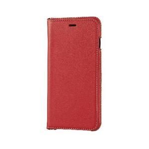 エレコム iPhone6s Plus/6 Plus用本革(スプリット)ケース/レッド PM-A15LPLFNRD h01