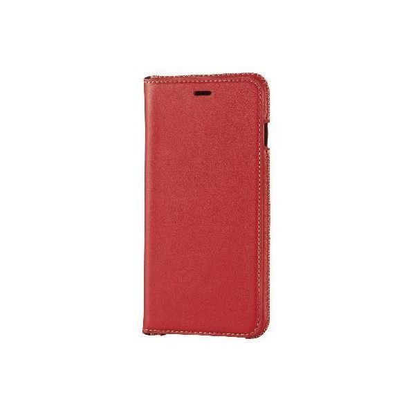エレコム iPhone6s Plus/6 Plus用本革(スプリット)ケース/レッド PM-A15LPLFNRDf00