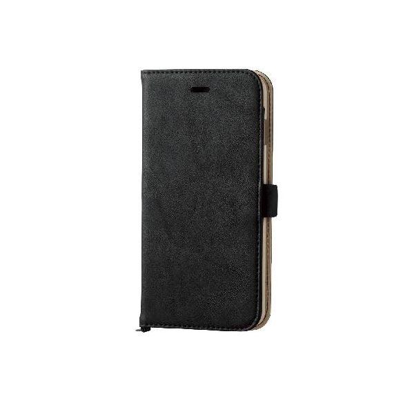 エレコム iPhone6s Plus/6 Plus用ソフトレザーカバー/磁石タイプ/ブラック PM-A15LPLFYBKf00