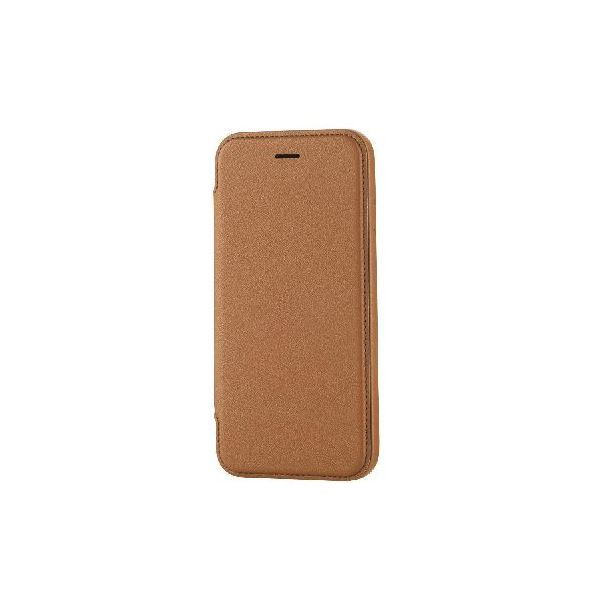 エレコム iPhone6s/6用ソフトレザーケース/極み/ブラウン PM-A15PLFABRf00