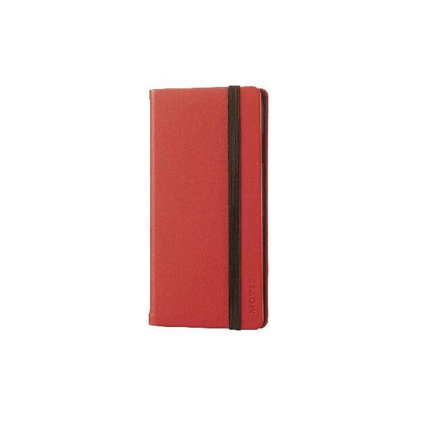 エレコム iPhone6s/6用手帳型カバー/ゴムバンド付/レッド PM-A15PLFCRDf00