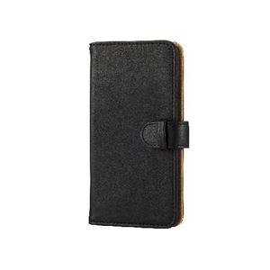 エレコム iPhone6s/6用ソフトレザーカバー/スナップ/ブラック PM-A15PLFDSNBK h01