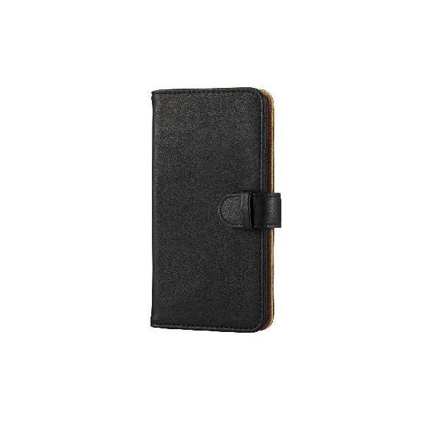 エレコム iPhone6s/6用ソフトレザーカバー/スナップ/ブラック PM-A15PLFDSNBKf00