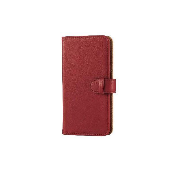 エレコム iPhone6s/6用ソフトレザーカバー/スナップ/レッド PM-A15PLFDSNRDf00