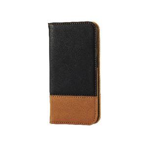 エレコム iPhone6s/6用ソフトレザーカバー/ツートン/ブラック×ブラウン PM-A15PLFDT02 h01