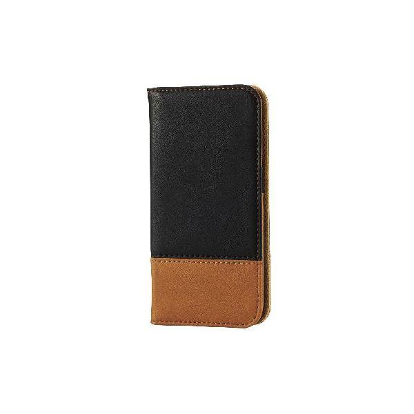 エレコム iPhone6s/6用ソフトレザーカバー/ツートン/ブラック×ブラウン PM-A15PLFDT02f00