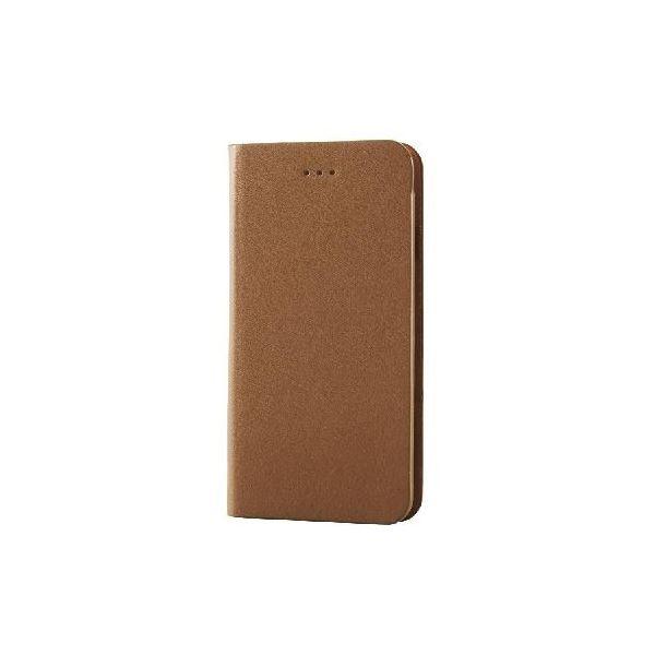 エレコム iPhone6s/6用本革(スプリット)カバー/ブラウン PM-A15PLFHBRf00