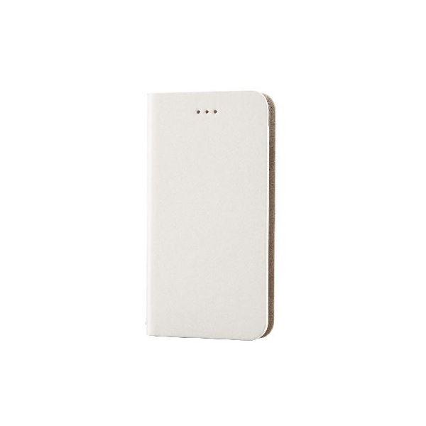 エレコム iPhone6s/6用本革(スプリット)カバー/アイボリー PM-A15PLFHIVf00