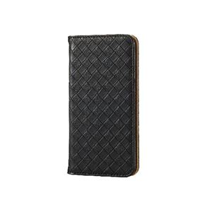 エレコム iPhone6s/6用ソフトレザーカバー/編込み/ブラック PM-A15PLFMBK h01